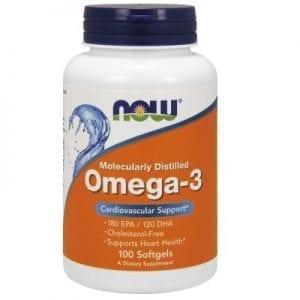 Omega-3 inniheldur EPA og DHA fitusýrur sem styðja heilsu hjarta og æðakerfis.