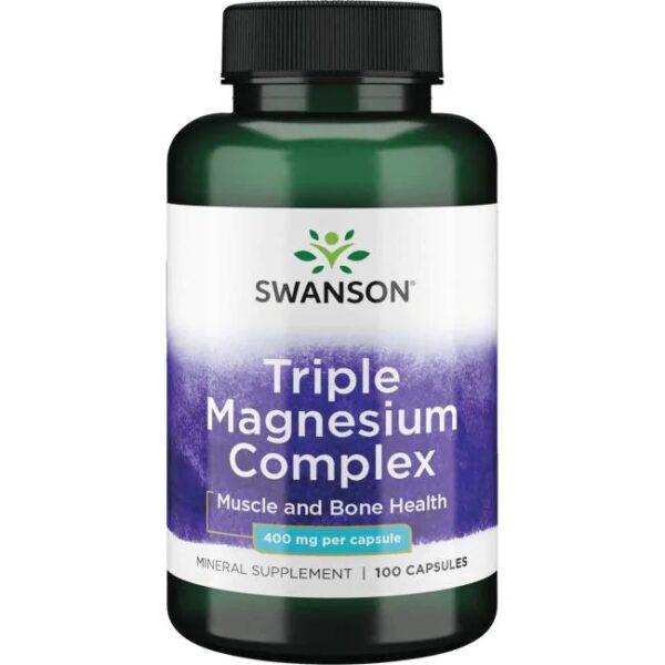 Swanson Triple Magnesium Complex stuðlar að styrkingu vöðva og beina